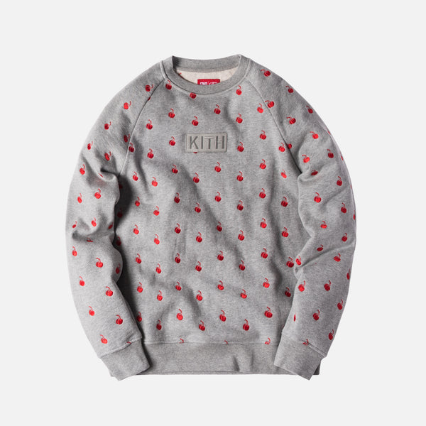 Kith x Coca-Cola Cherries Crewneck - Heather Grey