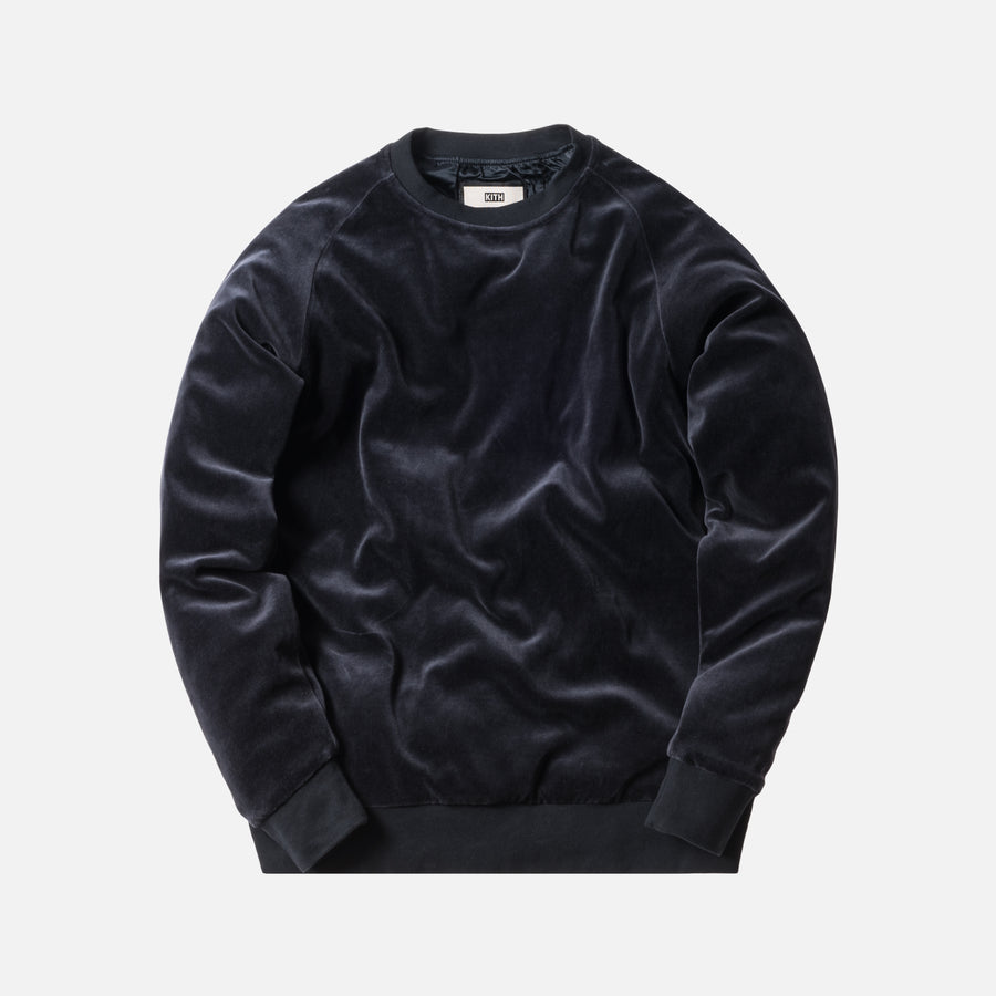 Kith x Bergdorf Goodman Velour Williams Crewneck - Navy