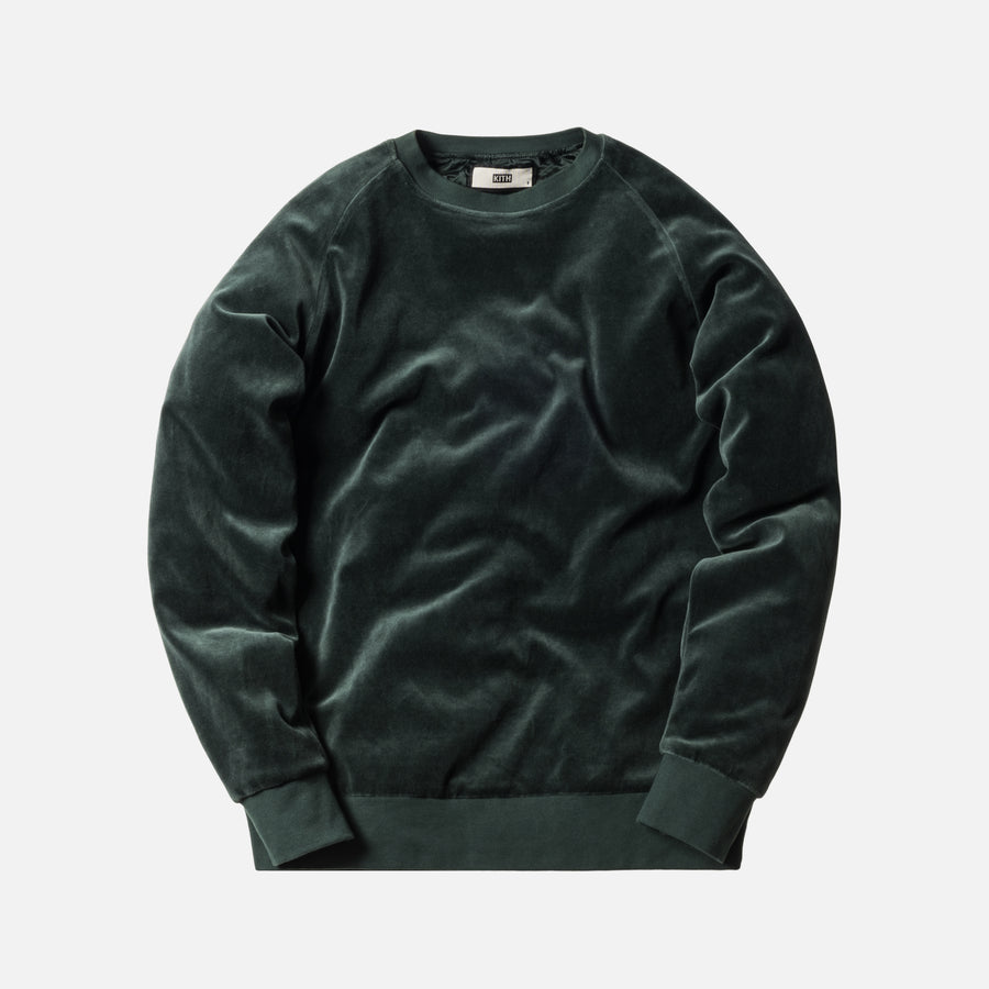Kith x Bergdorf Goodman Velour Williams Crewneck - Forest Green