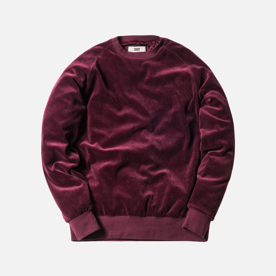 Kith x Bergdorf Goodman Velour Williams Crewneck - Burgundy