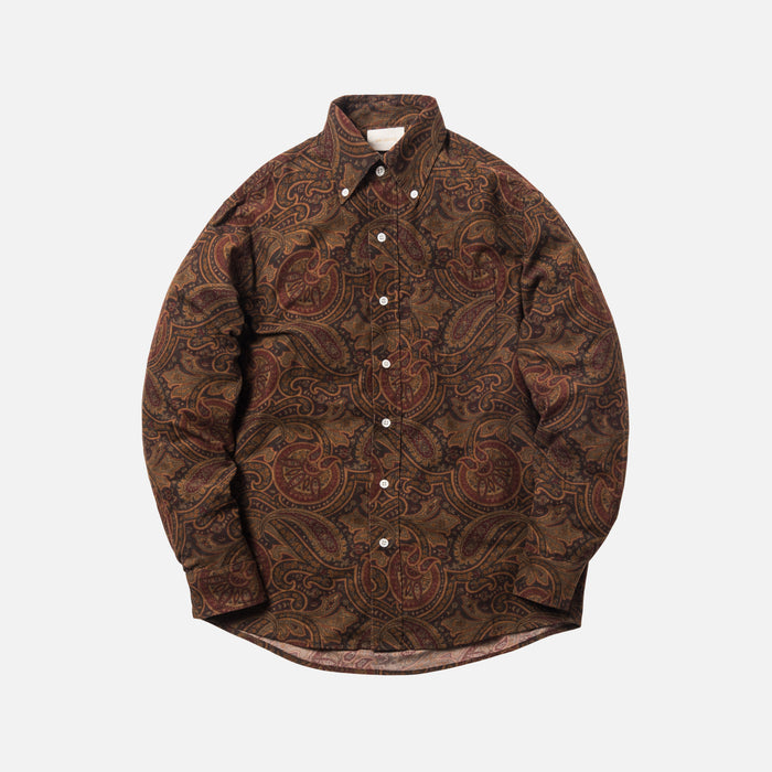 Aimé Leon Dore Paisley Sport Button-Up - Burgundy / Multi