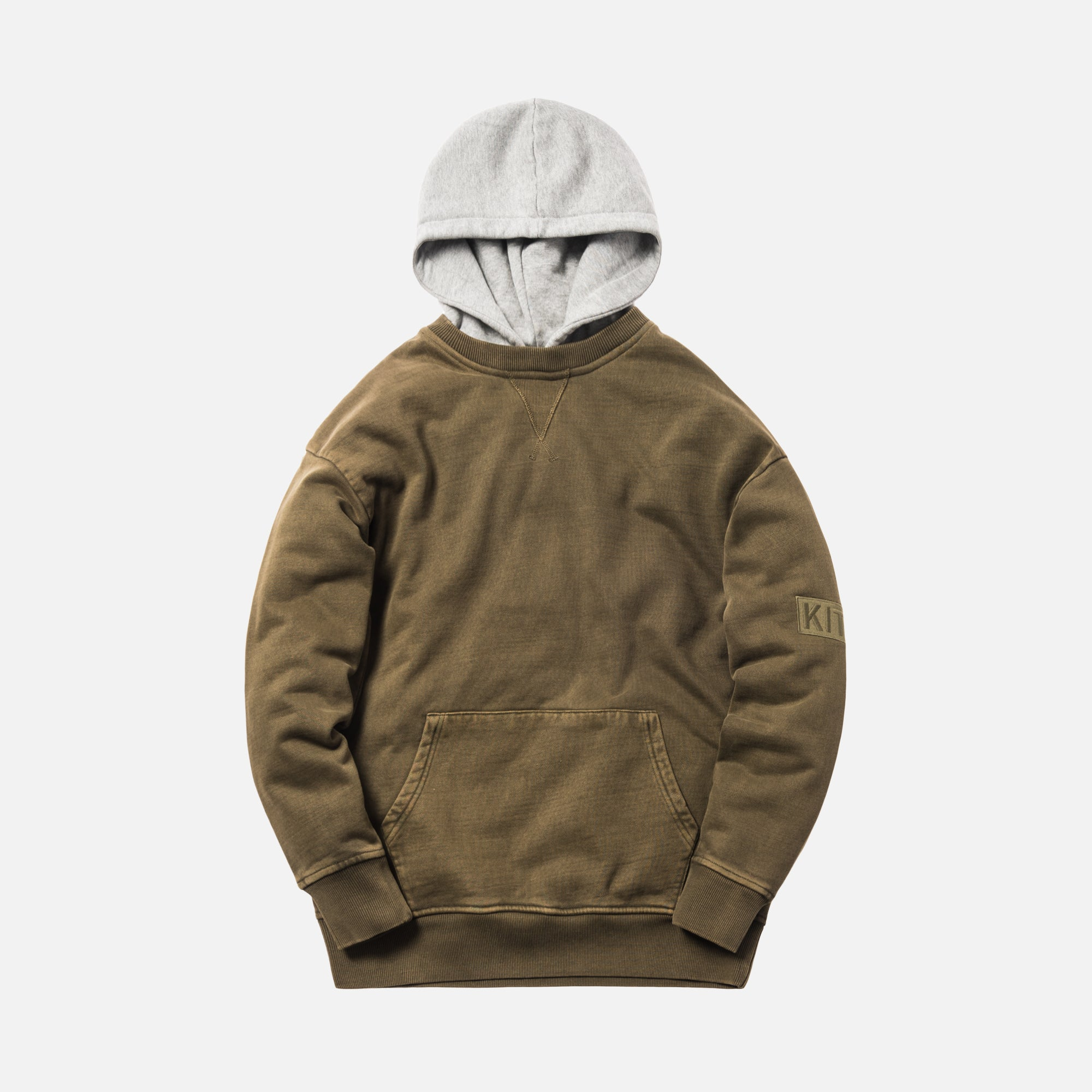 Kith Two-Tone Williams II Hoodie - Olive / Heather Grey
