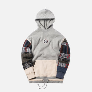 Kith Patchwork Williams Hoodie - Heather Grey