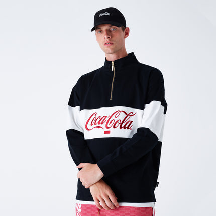 Kith x Coca-Cola Quarter-Zip Rugby - Black