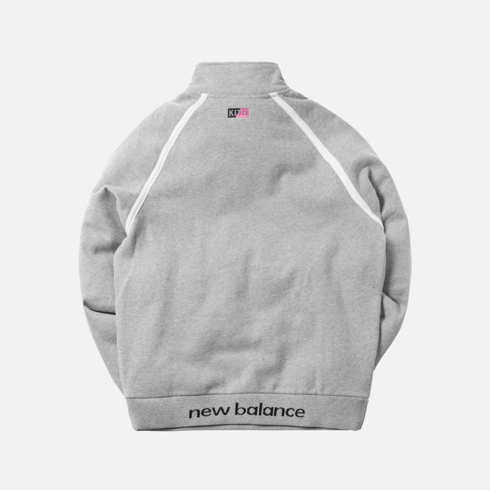 Kith x United Arrows & Sons x New Balance Half-Zip Mock Neck Pullover - Heather Grey