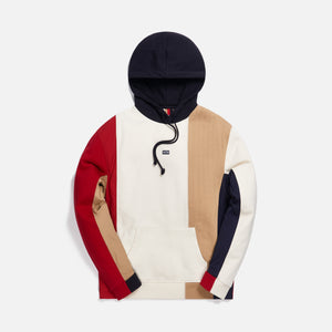 Kith Quilted Colorblock Hoodie - Tan / Multi Image 1