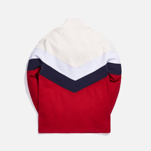 Kith Track Line Quarter-Zip Pullover - Red / Multi Image 2