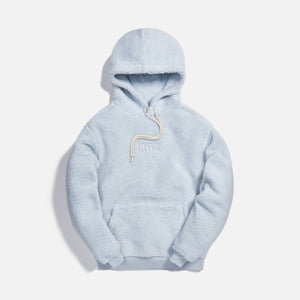 Kith Sherpa Classic Logo Hoodie - Illusion Blue