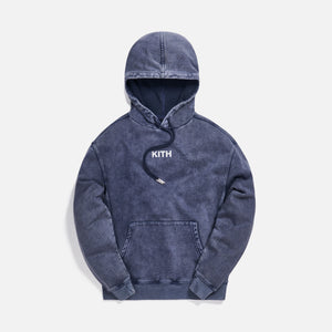 Kith Williams III Crystal Wash Fleece Hoodie - Obsidian / Navy Image 1
