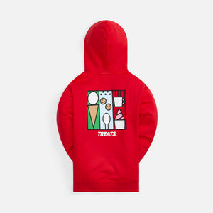 Kith Treats Abstract Art Hoodie - Red