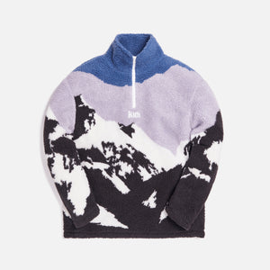 Kith Claremont Sherpa Quarter Zip - Blue / Multi