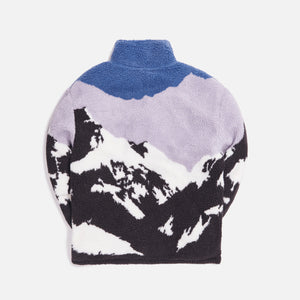 Kith Claremont Sherpa Quarter Zip - Blue / Multi Image 4