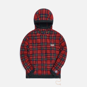 Kith Adrian Sherpa Hoodie - Red / Multi Image 1