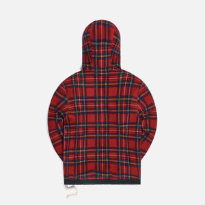 Kith Adrian Sherpa Hoodie - Red / Multi Image 5