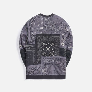 Kith Deconstructed Bandana Crewneck - Black