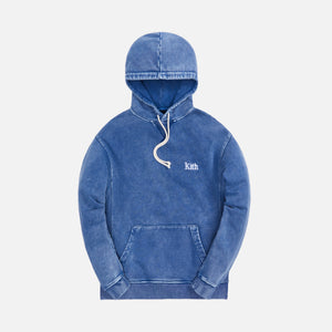 Kith Overdyed Heather Williams III Hoodie - Dark Indigo