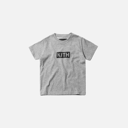 Kith Kids Classic Logo Tee - Heather Grey