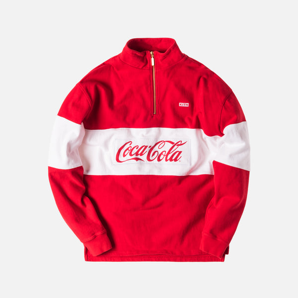 Kith x Coca-Cola Half Zip Rugby - Red