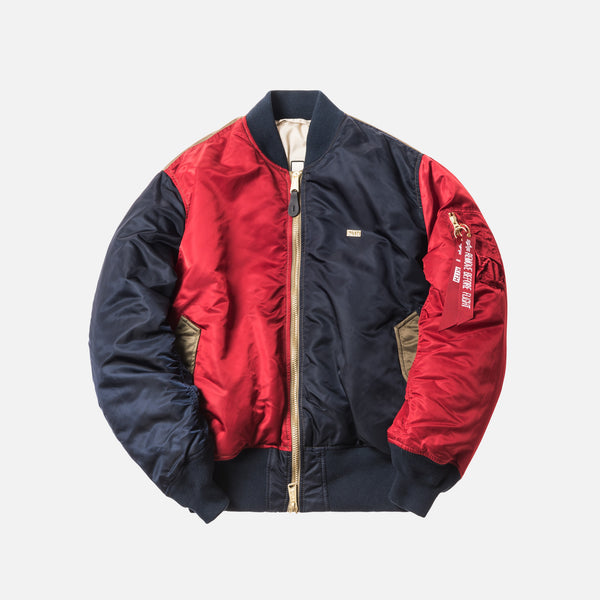 Kith x Alpha Industries MA-1 Bomber - Navy / Red / Olive