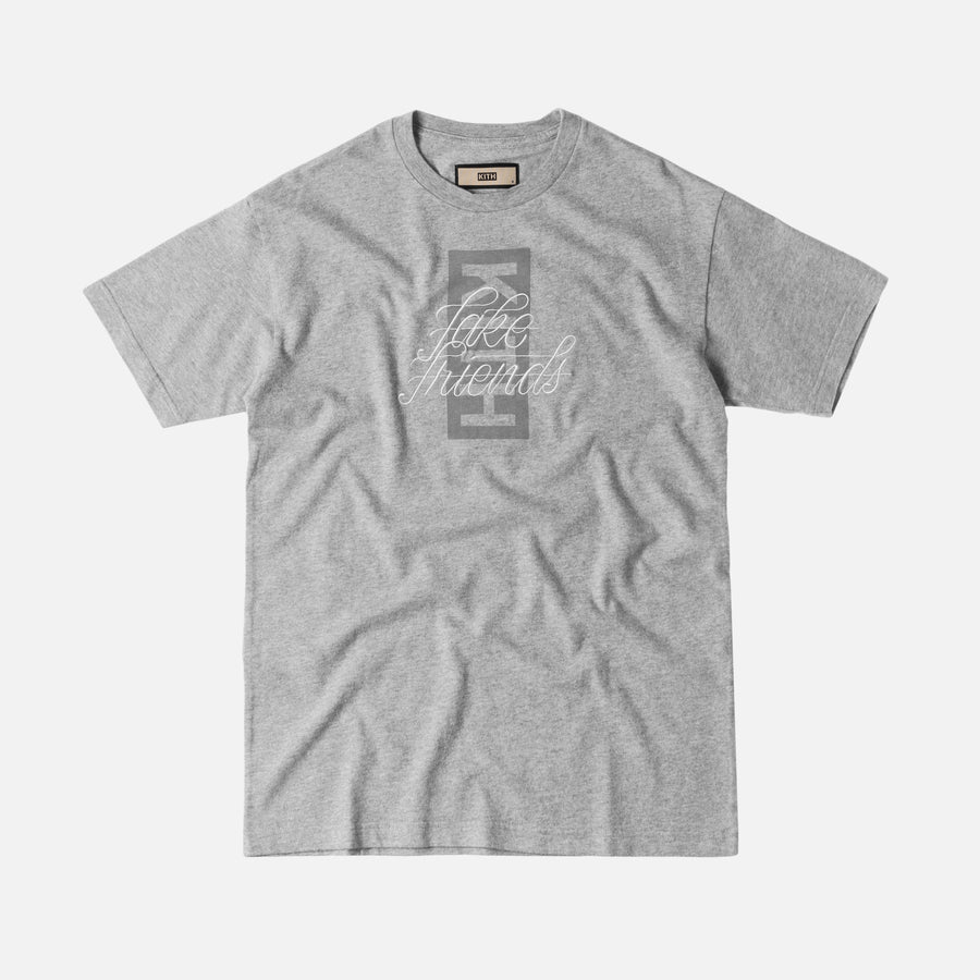 Kith Fake Friends Script Tee - Heather Grey