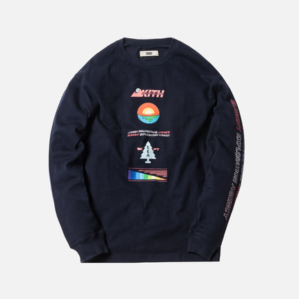 Kith Diagram L/S Tee - Navy