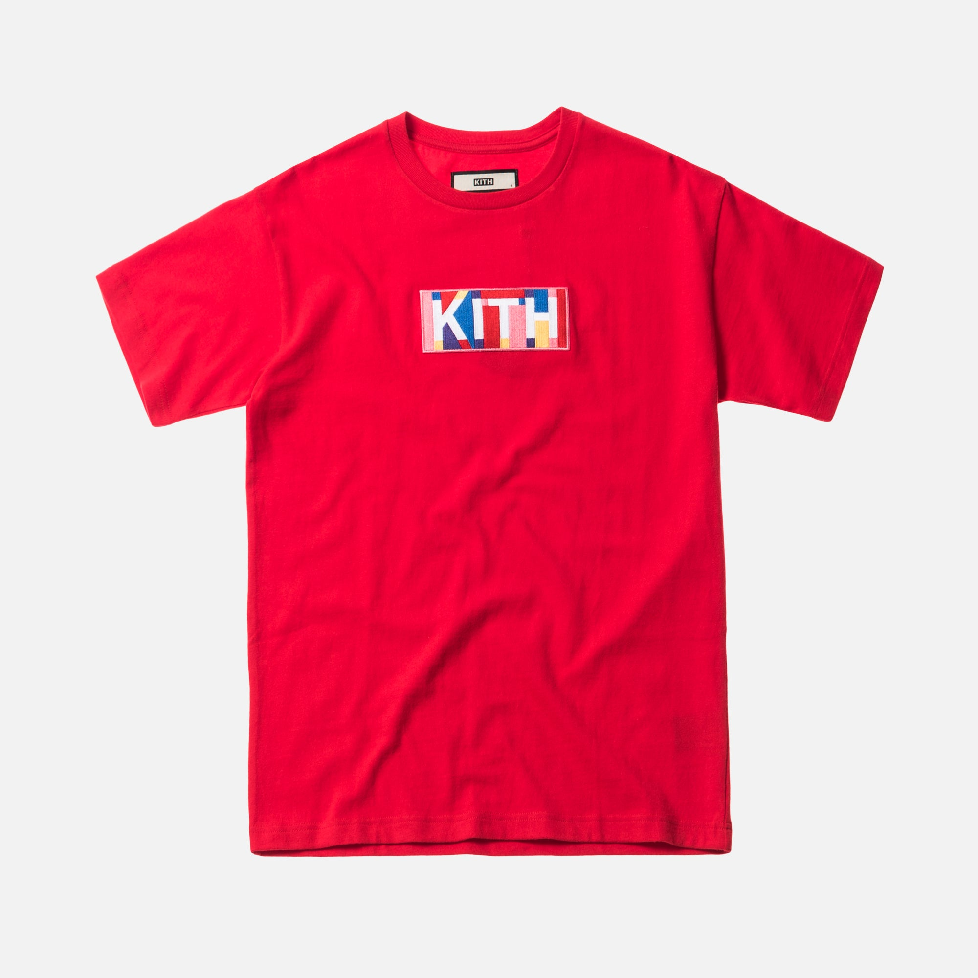 Kith Geo Colors Tee - Red