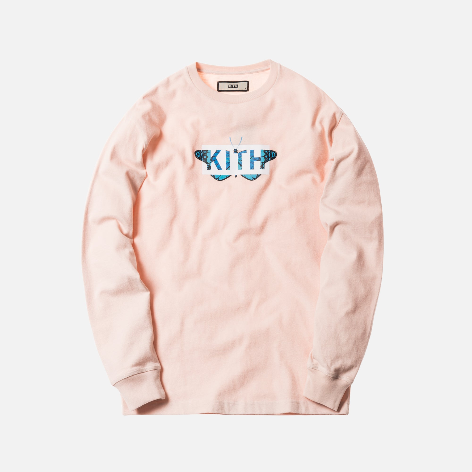 Kith Monarch Classic Logo L/S Tee - Pink