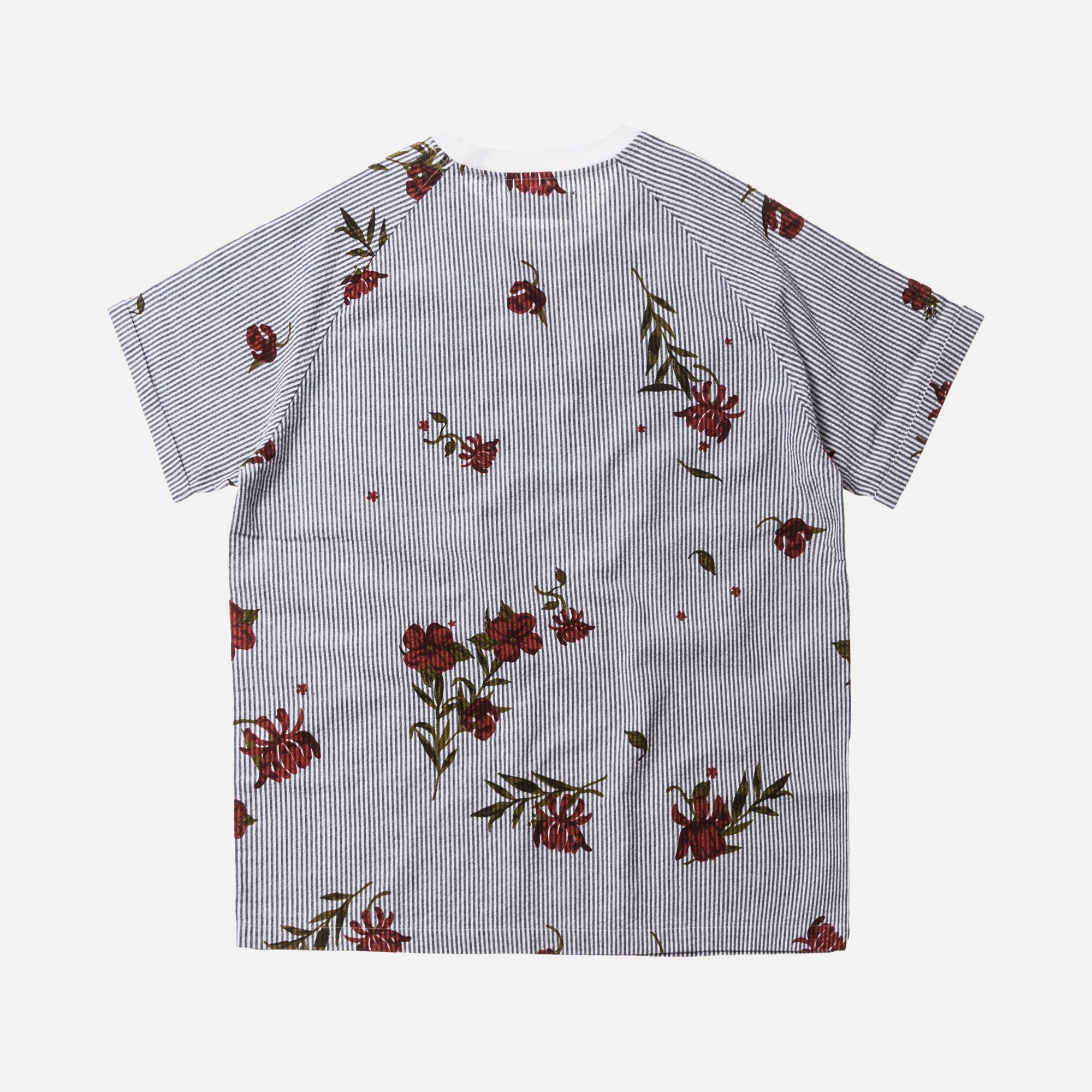 Kith Floral Seersucker Howard Tee - Navy / White