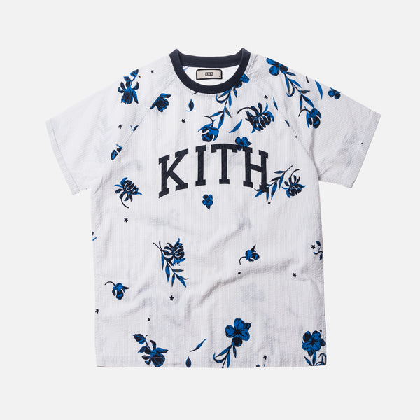 Kith Floral Seersucker Howard Tee - Grey / White