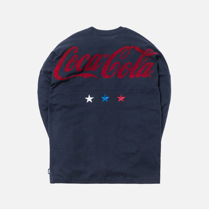 Kith x Coca-Cola Global L/S Tee - Navy