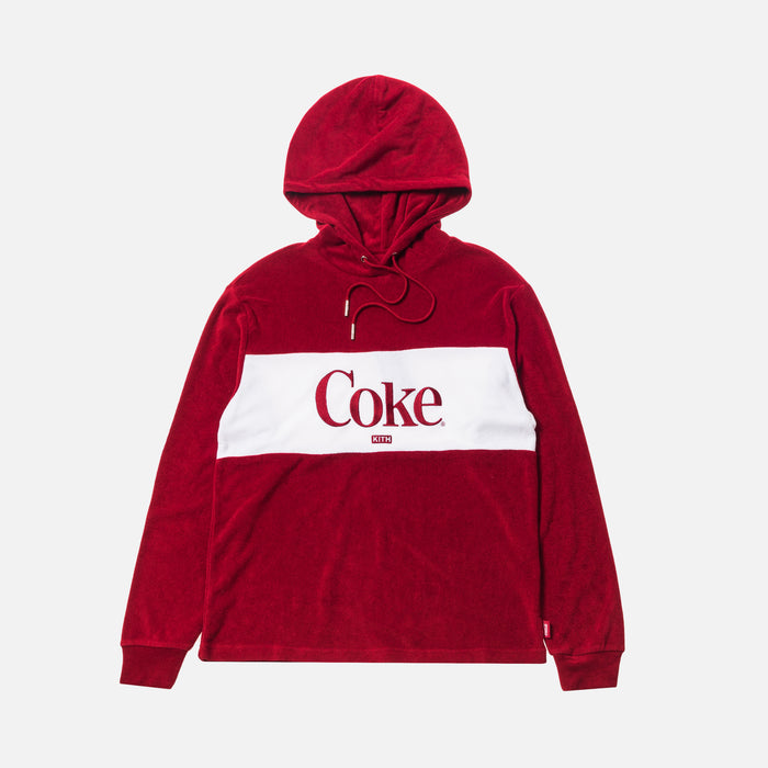 Kith Women x Coca-Cola Terry Hoodie - Red