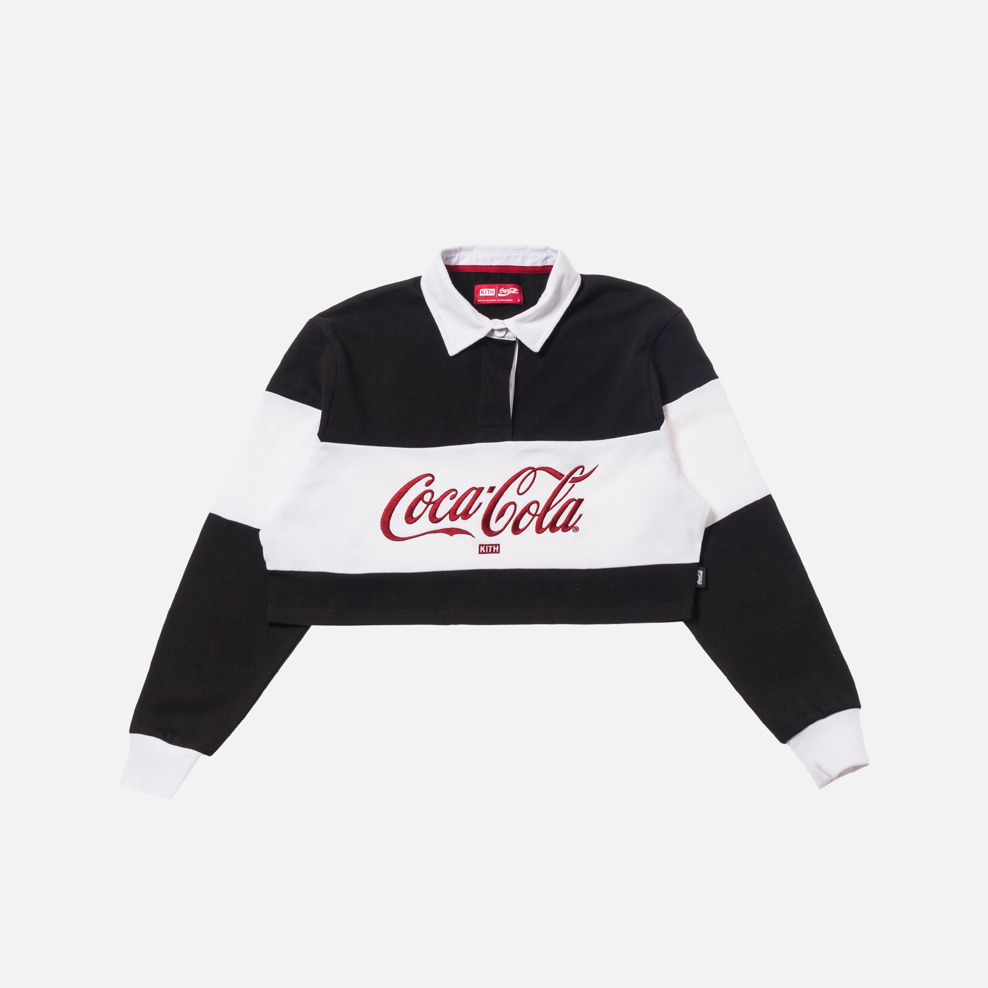 Kith Women x Coca-Cola Cropped L/S Rugby - Black
