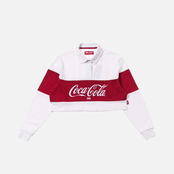 Kith Women x Coca-Cola Cropped L/S Rugby - White