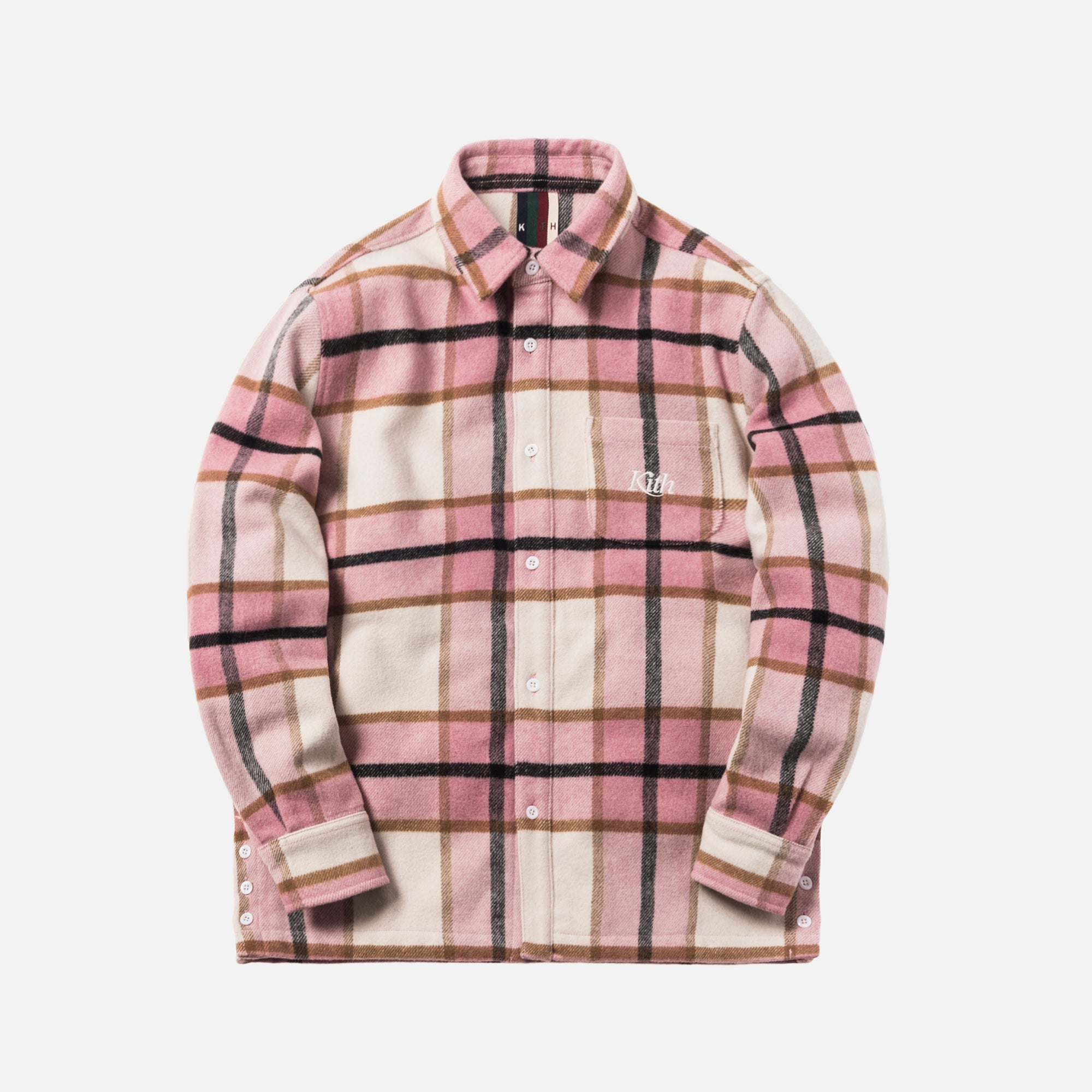 Kith Ginza Heavy Weight Flannel - Pink Plaid