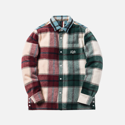 Kith Color-Blocked Plaid Flannel Ginza Shirt - Multi