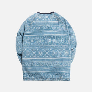 Kith L/S Denim Johnson Crewneck - Hosu 2.0 Wash