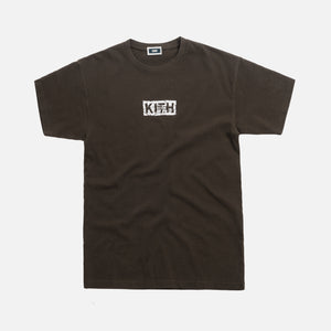 Kith Splintered Logo Tee - Black / Olive