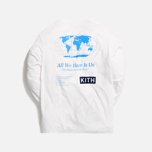 Kith One World L/S Tee - White
