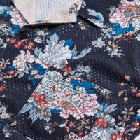 Kith Floral Panel Camp Shirt - Navy / Multi Thumbnail 1