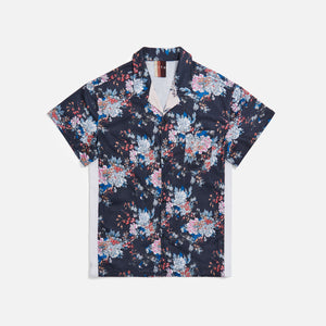 Kith Floral Panel Camp Shirt - Navy / Multi Image 1