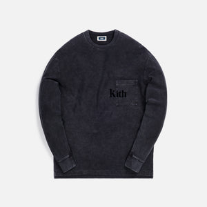 Kith Quinn Crystal Washed L/S Tee - Black Image 1