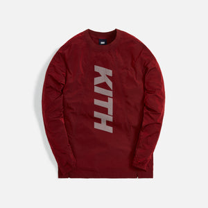Kith L/S Panelled Wrinkle Nylon Pullover - Red Dahlia
