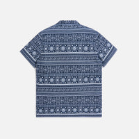 Kith Seersucker Camp Shirt - Navy / White Thumbnail 1