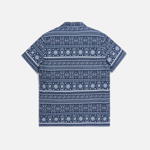 Kith Seersucker Camp Shirt - Navy / White Image 4