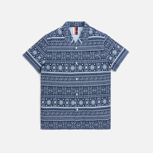 Kith Seersucker Camp Shirt - Navy / White Image 1