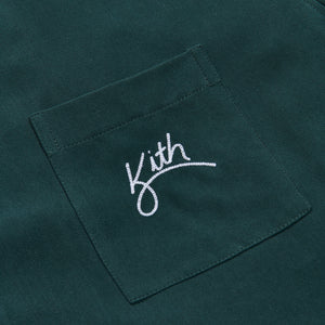 Kith Camp Collar Silk Cotton Shirt - Scarab Image 5