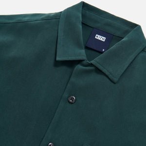 Kith Camp Collar Silk Cotton Shirt - Scarab Image 6