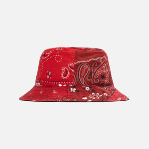 Kith Deconstructed Bandana Bucket Hat - Red