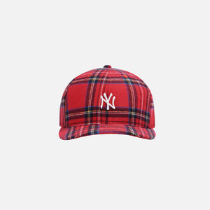 Kith for New York Yankees Plaid New Era Cap - Red / Multi