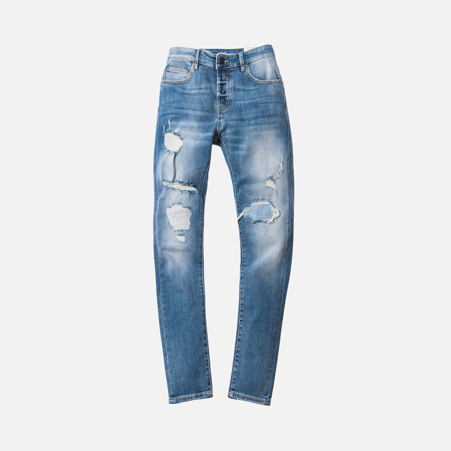 Kith Monroe Destroyed Denim - Stella Blue